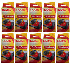 10 x Kodak FunSaver Flash 800 asa 27 Exp Single Use Flash 35mm Camera