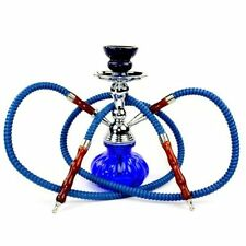 Hookah Double Hose Glass Water Pipe Vase Tobacco Shisha Nargile Smoking Bong Set