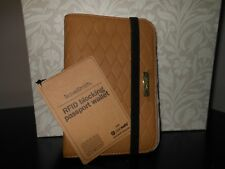 TravelSmith RFID-Blocking Passport Currency Wallet, Camel,NWT