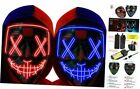 Halloween Mask LED Light up Mask (2 Pack) Scary mask for Festival Cosplay