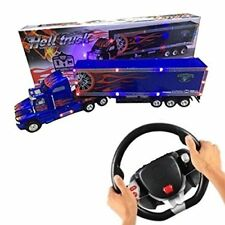 Big-Daddy XL Super Duty Tractor Trailer W/ Lights & Steering Wheel Remote