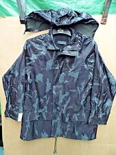NIGHT URBAN CAMOUFLAGE WATERPROOF/WINDPROOF JACKET BY MODERN CASUALS -SIZE SMALL