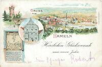 Ansichtskarte Hameln neuen Jahr um 1900   (Nr.834)