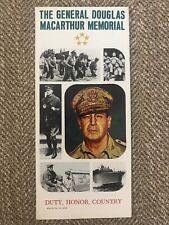 Vintage Brochure The General Douglas Macarthur Memorial