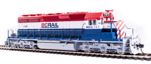 BROADWAY LIMITED 6776 HO EMD SD40-2 BC Rail 736 Rd Whte & Blu Paragon4 Sound/DCC
