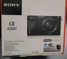 Sony Alpha α6000 24.3MP Digital SLR Camera -silver (Kit with E PZ 16-50mm f/3.5…