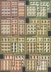 KV 2002 MOZAMBIQUE BUTTERFLIES DOGS FLOWERS EGYPT MONUMENTS !! FULL 8*(9SET) MNH