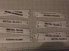 5 Neo Geo Mvs Cart Vinyl Labels Of Your Choosing