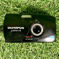Vintage Retro Olympus MJU II 35mm 1:2.8 Point & Shoot Film Camera - FAULTY