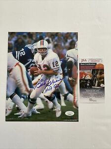 Bob Griese Signed 8 x 10 Photo JSA COA Miami Dolphins ProLook
