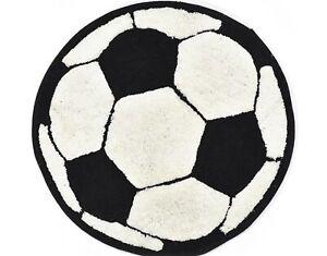 "FOOTBALL TEENS BOYS DECORATIVE RUG 100% COTTON (31.50"" Diameter)"