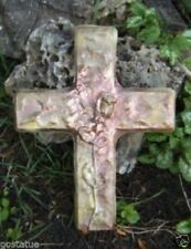 """Plaster concrete abs plastic rose cross mold mould 13"""" x 10"""" x 1/2"""" thick"""