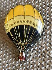 Vintage Hot Air Balloon Lapel Pin Enamel