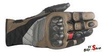 """Alpinestars """"Belize Drystar"""", Motorrad-Handschuhe in Größe S M L XL & XXL, Braun"""