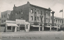 King City CA * Hotel El Camino Real 1930s * Confectionary Store Monterey Co.