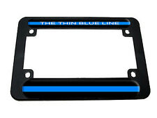 Thin Blue Line - Police Motorcycle License Plate Tag Frame