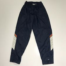Vtg Nike Boys Youth Large (14-16) Nylon Track Pants Blue Full Side Zip