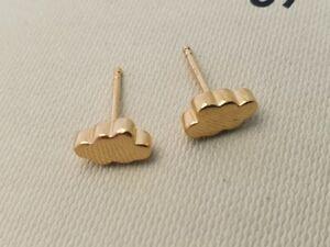 Genuine Links of London mini CLOUDS earrings, yellow gold vermeil silver