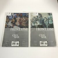 Front Line Civil War 7 & 8 A Marvel Comics Event Paperback Tpb Books First Print