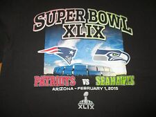 Super Bowl XLIX NEW ENGLAND PATRIOTS vs SEATTLE SEAHAWKS (LG) T-Shirt
