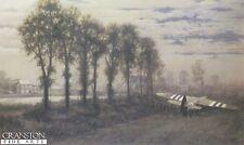 D Day Military Art Print  Pegasus Bridge Horsa glider Ox and Bucks  DAMAGED