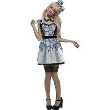 Fever Blue Broken Annie Doll Halloween Horror Womens Ladies Fancy Dress Costume