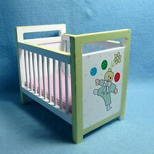 Dollhouse Miniature Nursery Crib with Colorful Clown Theme ~ Emwf509