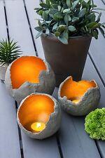 Beton DIY Lichtkugel aus Beton gold Teelichhalter Windlicht Leuchtkugel XS