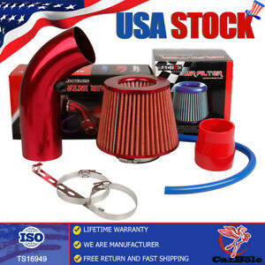 Cold Air Intake Filter Induction Kit System Car Accessories Pipe Power Flow Hose
