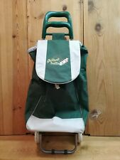 Rare Quilter's Trolley Green Embroidery Shopping Dolly Grocery Foldable Cart