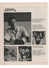 Pubblicità 1971 TAKAO HORIE KAWASAKI MACH IV 750 MOTO MOTOR advertising werbung