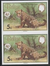 Belize (1257) - 1983 WWF Jaguar 5c IMPERF PAIR unmounted mint
