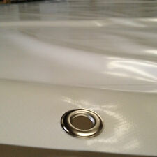 5,10 x 2,80m-ca 700gr/m²-Weiß mit Ösen-B Ware-LKW Plane PVC Abdeckplane