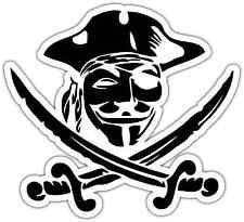 "V for Vendetta Anonymous Mask Pirate Car Bumper Window Vinyl Sticker Decal 4""X5"""