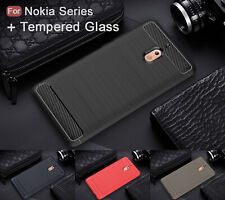 For Nokia 4.2/2.1/5.1/7 7.1 6.1 3.1 Plus/X 7 6 3  Shockproof Case+Tempered Glass