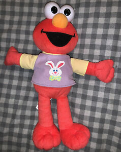 """Fisher Price 11"""" Elmo Sesame Street Plush Toy With Cute Easter Bunny Shirt"""
