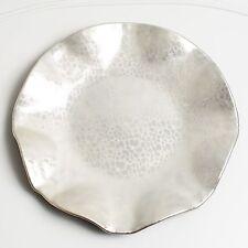 IVV ITALY Servierplatte Glasschale Silber Kristall Landhaus Shabby Chic Brocante
