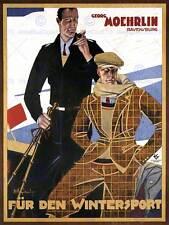 ADVERT GEORG MOEHRLIN CLOTHING WINTER SPORT GERMANY POSTER ART PRINT BB1809B
