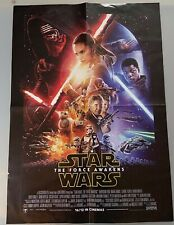 Official Star Wars The Force Awakens folded poster (2015)