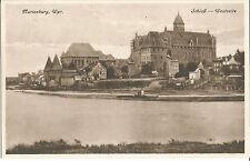 Marienburg, Westpreußen, Schloß, Westseite, alte Ansichtskarte von 1930