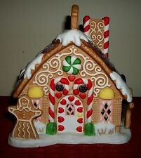 Partylite Gingerbread Christmas Tealight Candle Holder Holiday Village House