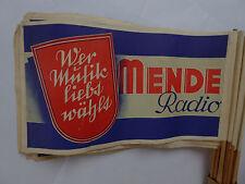 Antica carta banderuole, esplicativi, storica pubblicità, Radio, Radio