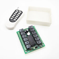 12v 10A relay 12Ch wireless Programable RF Remote Control Transmitter + Receive