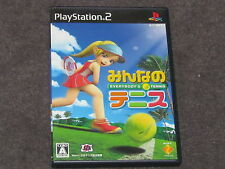 Everybody's Tennis PS2 NTSC-J Complete Japanese Import Japan MINT DISC