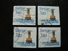 SUEDE - timbre yvert et tellier n° 1510 x4 obl (A27) stamp sweden (Z)