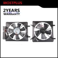 LH+RH Radiator AC Condenser Cooling Fan Assembly for 02-06 Honda CR-V Element