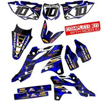 2003 2004 YAMAHA YZ 250F / YZ450F GRAPHICS KIT ISLANDSTRIKE : BLACK / BLUE KIT