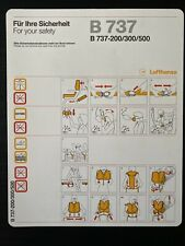 Lufthansa Boeing 737-200/300/500 Safety Card