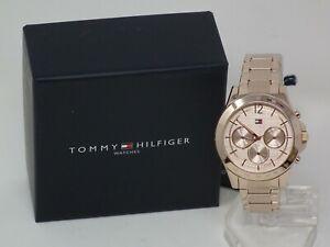 Tommy Hilfiger Uhr Armbanduhr Frauenuhr 1782197 Tag Datum Rose Gold