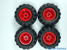 LEGO Pearl Gold Wheels 30.4x 20mm Wheel - 56mm X 26mm Balloon Tires (x4)